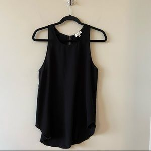 """""""Wilfred"""" High Neck Exposed Zipper Tank Top"""